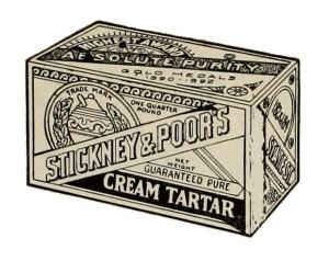 stickney and poor's cream tartar box
